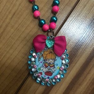 Quirky Strawberry Shortcake Necklace By LA Artist